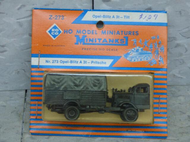 Roco Minitanks / Herpa WWII German Opel Blitz A 3T 4x4 Troop Truck Lot #3599K