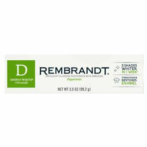 REMBRANDT Deeply White + Dentifricio 99,2 g 3.5 OZ Nuovo sbiancamento migliorato