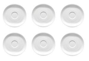 6x-Arzberg-Cucina-Weiss-Tee-Untertasse-Unterteller-14cm-NEU-1-Wahl
