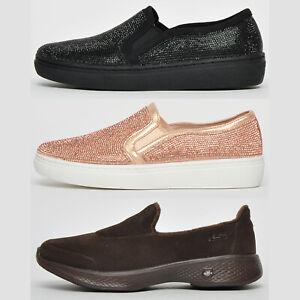 Skechers-Memoria-Comfort-Schiuma-Donna-Ragazze-Slip-On-Design-Scarpe-Sportive-Da