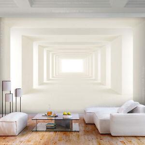Details zu VLIES FOTOTAPETE 3D effekt Tunnel weiß beige TAPETE WANDBILDER  XXL Wohnzimmer 06