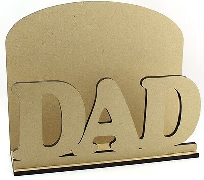 DAD Letter Mail Post Rack MDF Daddy Birthday Gift Idea Fathers Day