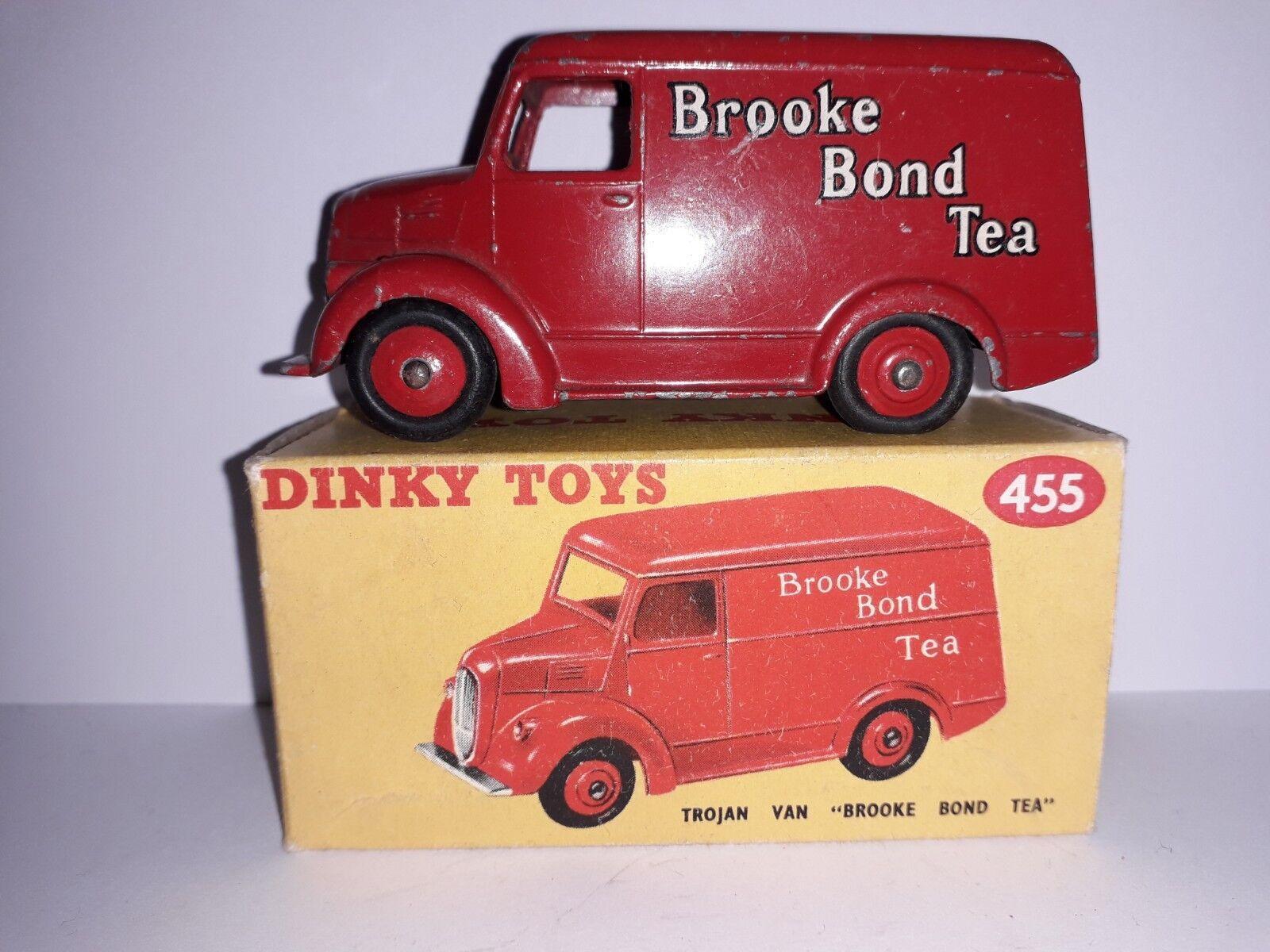 contador genuino En Caja Caja Caja Dinky Juguetes 455 Van Brooke Bond Tea rojo de Troya tradicional van  Entrega directa y rápida de fábrica