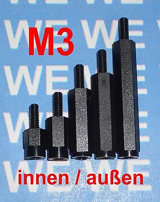 ABSTANDSHALTER M3 8-50mm ABSTANDSHÜLSEN DISTANZBOLZEN DISTANZHÜLSEN KIA