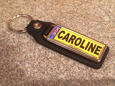 Number Plate Personalised Registration Plate Keyring Add any name