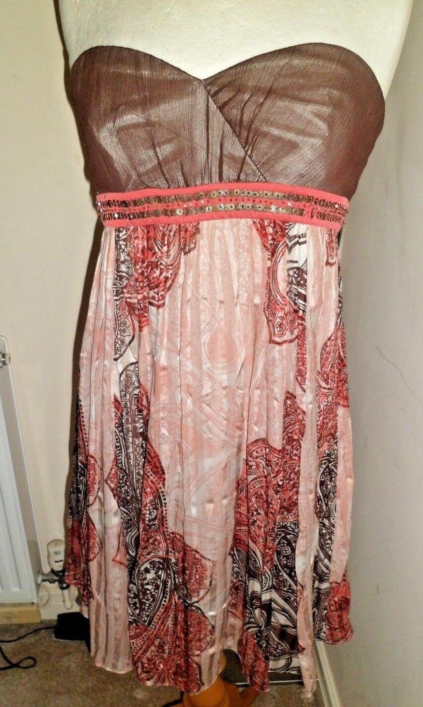 Stunning BCBGMAXAZRIA Strapless Silk Dress Small  Worn Once