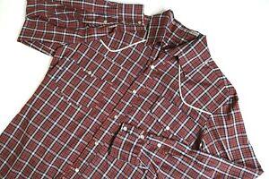 Vintage-Pearl-Snap-Long-Sleeve-Shirt-Western-Cowboy-Men-039-s-Size-Large