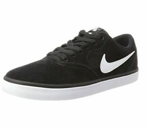 380cbc24e42b5 Men s Nike SB Check Solar Suede Skate Shoe Black White 843895 001