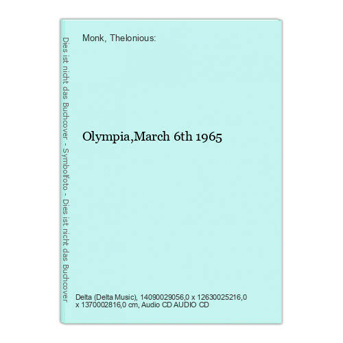 Olympia,March 6th 1965 Monk, Thelonious: