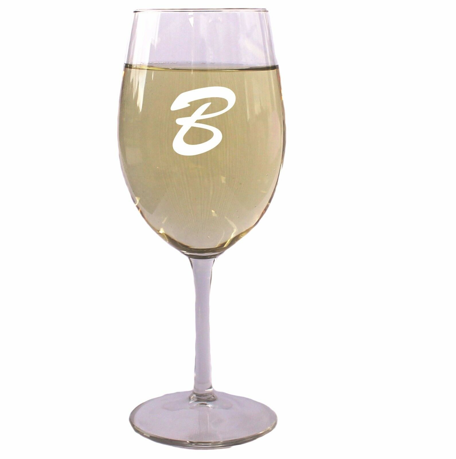 Etched Glass Wedding Gifts: Personalized 14 Oz. Wine Glass With Initial