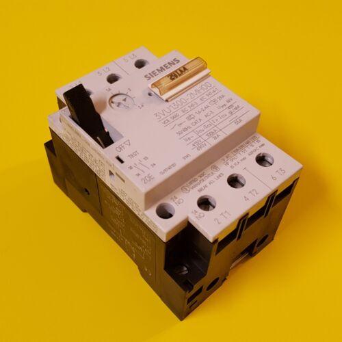 Siemens Circuit Breaker 3VU1300-2MH00 1.6-2.4A 3 Pole 600 V Aux Contacts 2NO