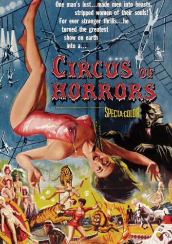 CIRCUS OF HORRORS VINTAGE MOVIE A3 ART PRINT POSTER YF5120
