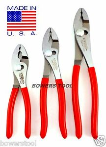 Wilde tool 3pc combination slip joint plier set 6 8 10 for Gardening tools made in usa