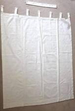 Cream 62 x 49 1/2 Jacquard Tone on Tone Floral Pattern Curtain Panel Tie Back
