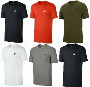 New-Men-039-s-Nike-Gym-Sports-T-Shirt-Retro-Nike-Logo-Top-Crew-Neck-Tee-S-M-L-XL-XXL