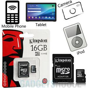 Kingston-MARCA-CLASE-4-MICRO-SD-16GB-SDHC-TF-tarjeta-y-adaptador-ALTA-VELOCIDAD