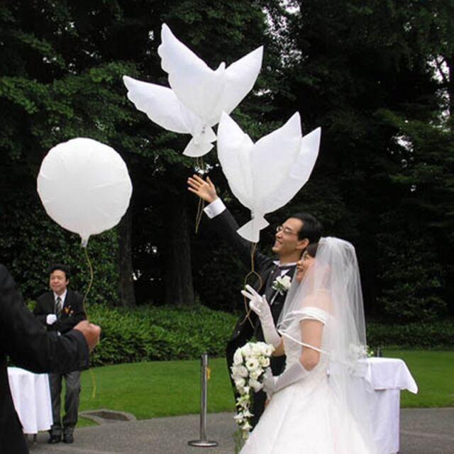 New White Dove Birds Wedding Balloons Party Memorial Ceremony Birthday Decor