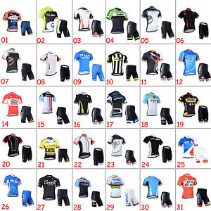New-Mens-Road-Bike-Team-Clothing-Short-Sleeve-Jersey-Shorts-Kits-Riding-Outfits