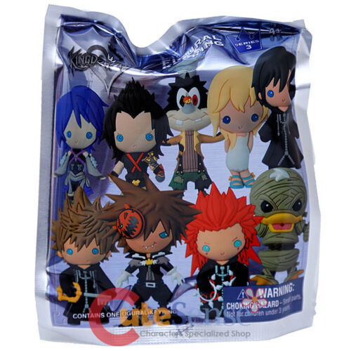 Kingdom Hearts Key Chain 3D Foam Figural Key Ring Mystery Blind Bag 1pc Series 3