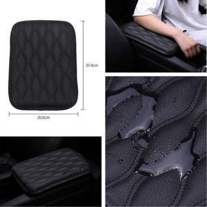 Car Armrest Pad Cover Center Console Dust-proof PU Leather Cushion Waterproof