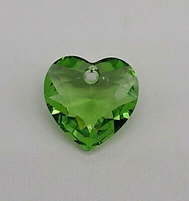 Swarovski Crystal Clear Faceted Heart Cut 6432 Pendant; 14.5mm or 8mm 2pc