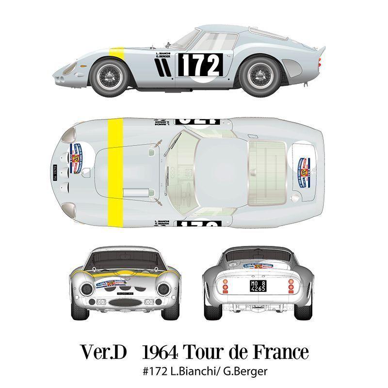 Mfh Model Factory Hiro 1 12 Ferrari 250 Gto 1964 Verd Fulldetail Kit K-565 F S