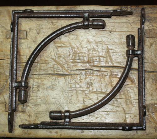2 LARGE HD Cast Iron Antique Style CABLE Brackets Garden Braces Shelf Bracket