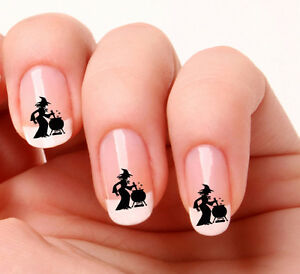 20 Nail Art Decals Transfers Stickers 390 Witch Cauldron
