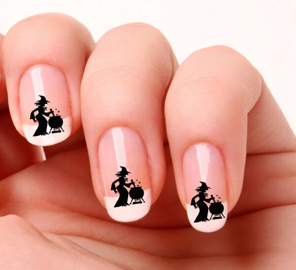 20 Nail Art Decals Transfers Stickers #390 - Witch & Cauldron Halloween