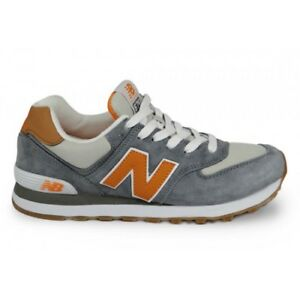 New Balance ML574PIB Lifestyle Classic men s shoes Grey Orange NWB ... 25caa9cdcf