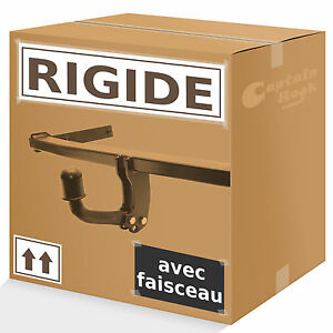 Attelage rigide fixe Peugeot 307 hayon 01-05 faisceau 7 broches