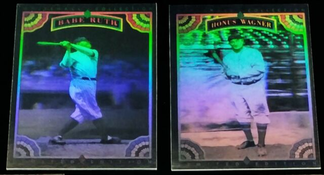 1992 Whitehall Collection Legends to Life HOLOGRAM set Babe Ruth Ty Cobb Gehrig