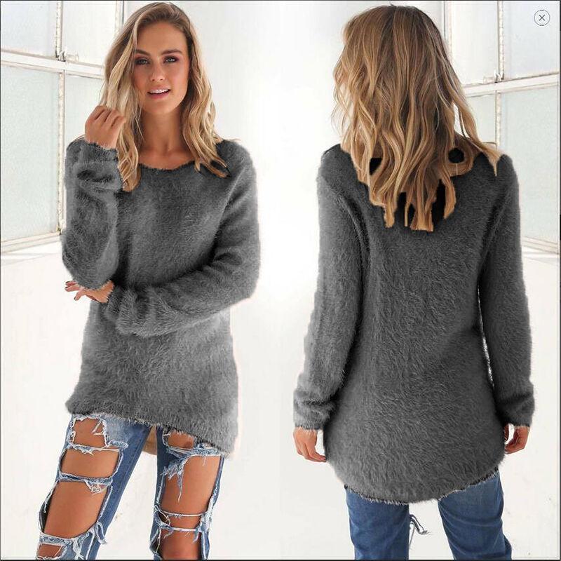 Vestito Abito Donna Maglione Lungo Pullover Felpa Cardigan Vestiti Top S-XXXL 9