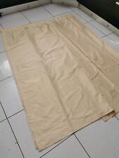 Pale Gold Bedroom Curtains Lightweight Polyester 66 X 72