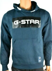 G-Star Raw Mens Hoodie Sweat Jacket New S M L XL XXL Teal Logo Winter