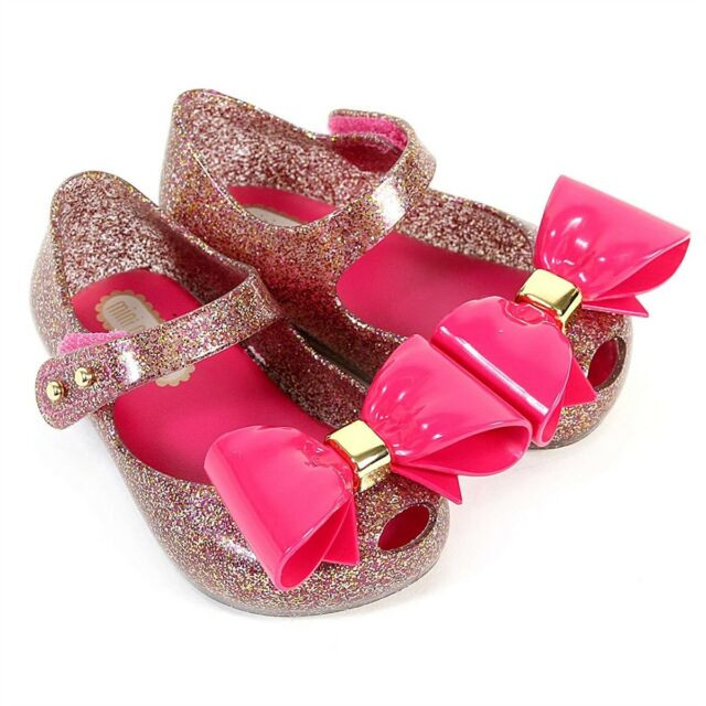 56167e1e5d Mini Melissa Girls Shoes Ultragirl VIII BB Mary Jane Flats Glass ...