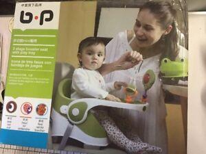 3 étape Pour Bébé Siège D'appoint Avec Plateau Et Jouets Alimentation/play 6 Mois Et -3 Oui-afficher Le Titre D'origine