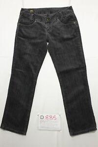 Lee-leola-terciopelo-negro-acortado-vaqueros-usados-Cod-D885-T-44-W30-L33-mujer