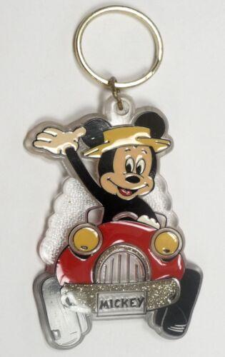 Disney porte clé MICKEY en VOITURE assemblé article neuf à partir des 90ern Brabo