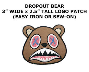 YZY-Drop-Out-Bear-X-DIY-Iron-On-Embroidered-Applique-Patch