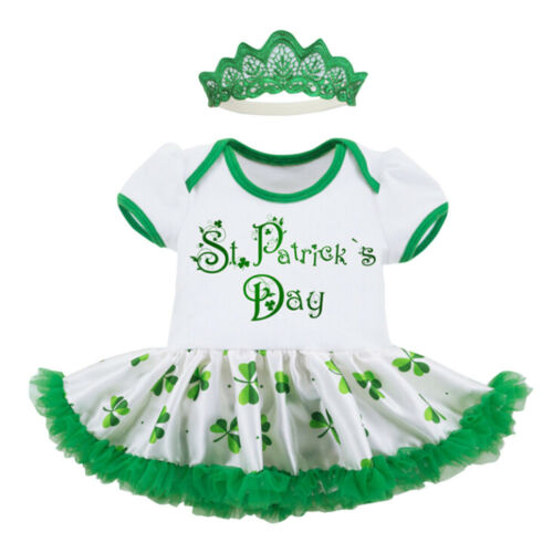 Patrick/'s Day Headband+Dress Party Princess Clothes Pretty Toddler Baby Girl St