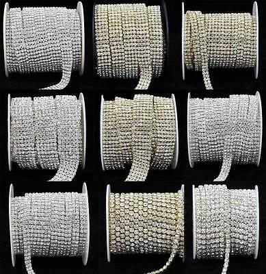 NEU SS16 Kristall Diamante Strass Kette Bänder Kuchen Dekoration
