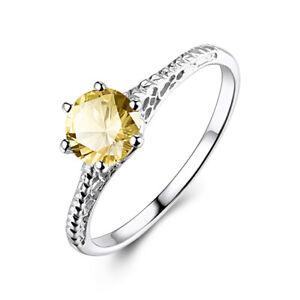 Gemstone Ring size 6.5 Citrine Ring Sterling Silver Citrine Ring