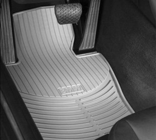 BMW 3 Series E46 Rubber All Weather Mats FRONT GRAY 82550138289