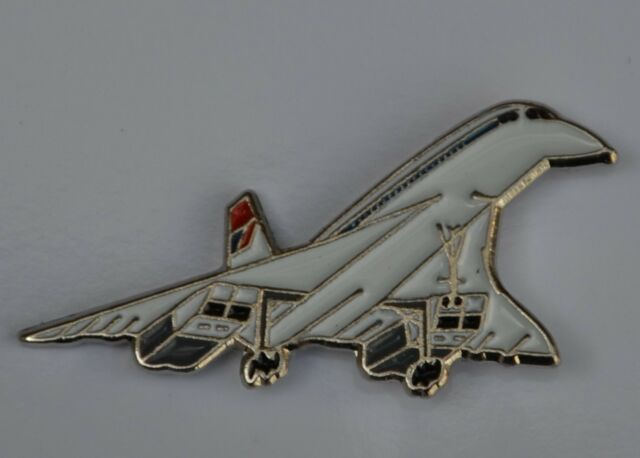 Concorde Aeroplane Quality Enamel Pin Badge