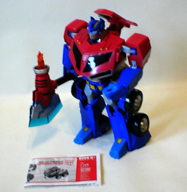 Transformers 10  OPTIMUS OPTIMUS OPTIMUS PRIME electronic talking figure toy 100% instructions 319900