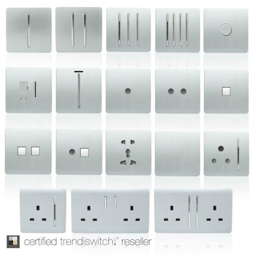 Trendi Artistique Moderne 45 A Cuisinière interrupteur Inc Plug Socket /& Fluo Insert Argent