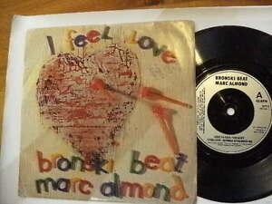 BRONSKI-BEAT-lt-gt-MARC-ALMOND-gt-1985-lt-I-FEEL-LOVE-gt-45RPM-7-034-SINGLE-VINYL-RECORD-JUKEBOX
