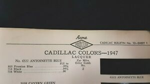 1947-CADILLAC-Original-Exterior-Color-Paint-Chips-Very-Good-Condition-US