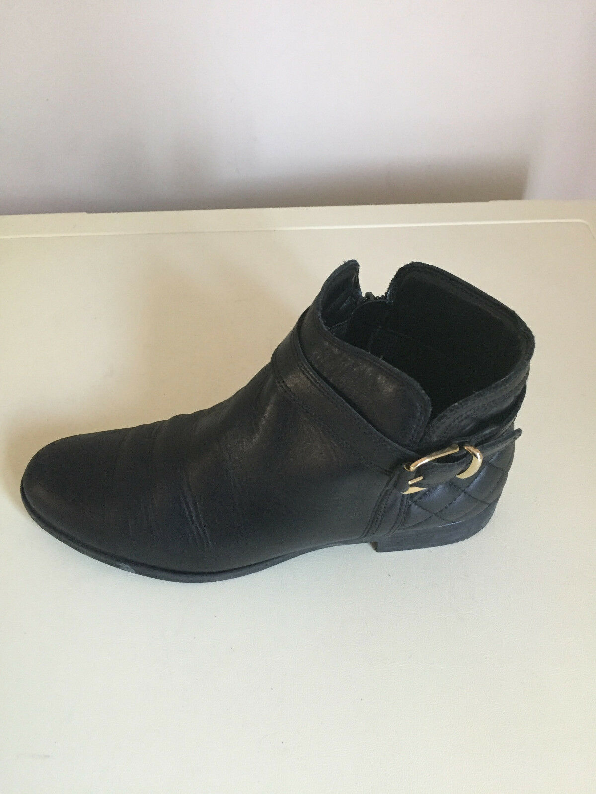 Ladies Womens Block Heel Chelsea Office Zip Ankle Boots Shoes Size 5